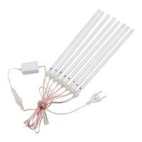 30CM 50cm 8 튜브 유성우 레인 LED 스트링 라이트 AC 110V 220V, 야외 정원 크리스마스 트리 휴일 파티 장식용