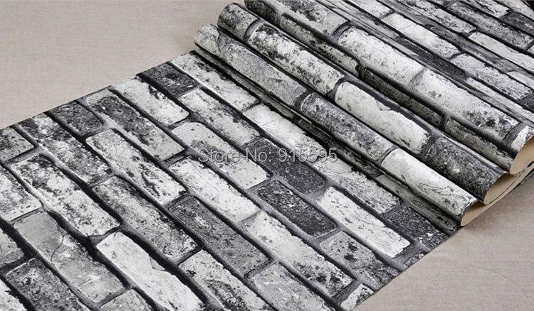 Nowoczesne vintage cegły kamienia pokoju tapety mural 3d winylu wodoodporna tłoczone tapety rolka papel de parede home decor 10 m 28
