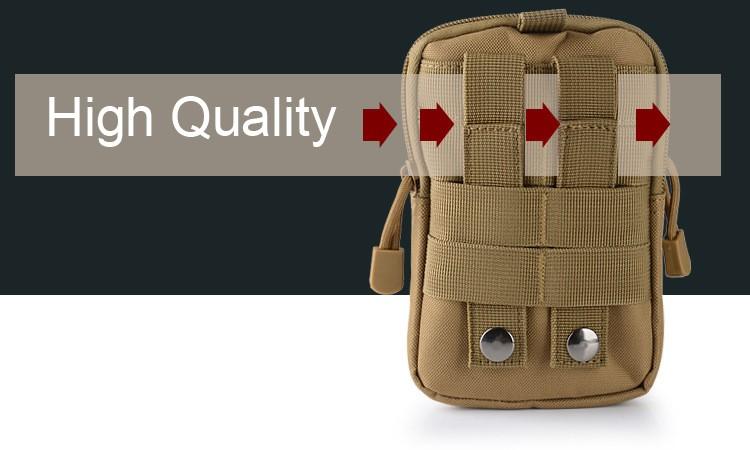 Uniwersalny Odkryty Wojskowy Molle Tactical Kabura Pasa Biodrowego Pasa Torba portfel kieszonki kiesy telefon etui z zamkiem błyskawicznym na iphone 7/lg 5