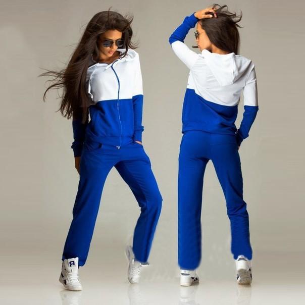 2016 Nowa Wiosna Odzież Przyczynowego 2 Sztuk Kobiety Bluzy z kapturem Bluza Dresy Garnitury Zestaw Bawełna Patchwork Kieszeń Plus Spodnie Dresowe 5