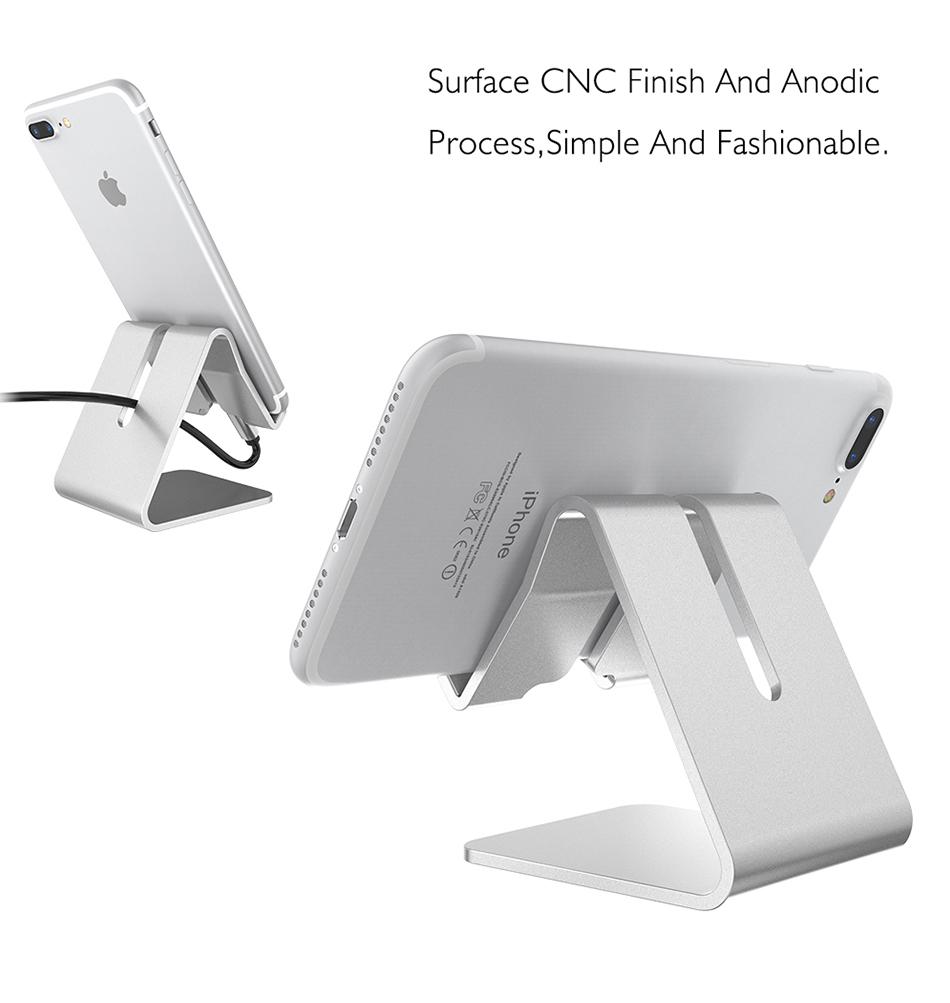 RAXFLY Uniwersalny Aluminium Metal Telefon Uchwyt Stojak Na iPhone 6 7 Plus Samsung Tabletka S8 Biurko Stojak Uchwyt Do Telefonu Inteligentnego Zegarka 9