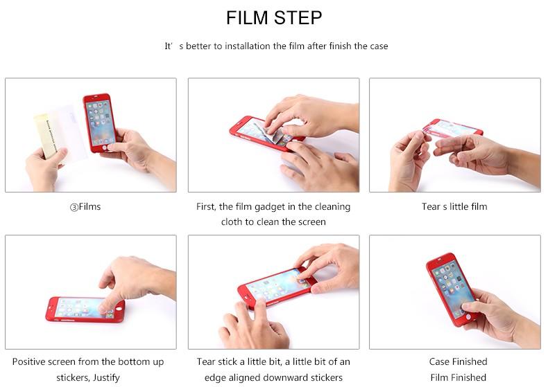 Floveme 6 s 7 plus armor screen protector 360 stopni case dla iphone 7 6 6 s dla iphone 6 6s 7 plus full chroń odporny na wstrząsy pokrywa 33