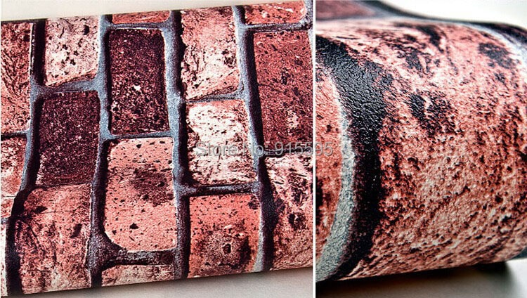 Nowoczesne vintage cegły kamienia pokoju tapety mural 3d winylu wodoodporna tłoczone tapety rolka papel de parede home decor 10 m 19