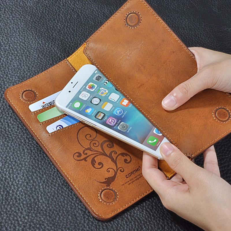 5.5 Uniwersalny Vintage Odwróć Skórzany Portfel Etui Do IPhone 5 6 7 Plus dla HTC Huawei LG Sony Dla Samsung S4 S6 Krawędzi Uwaga 7 Case 8