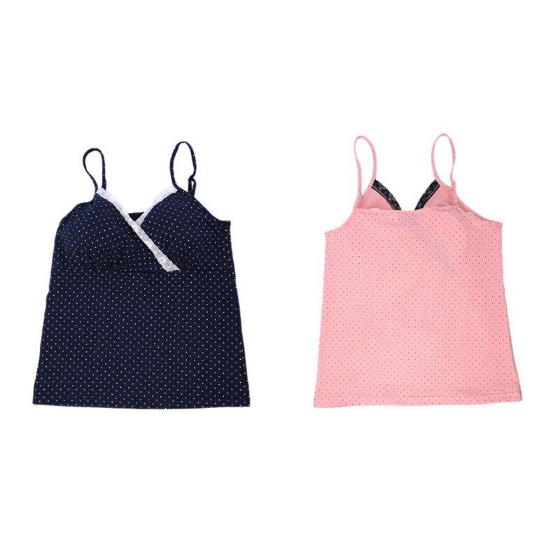 1 pc macierzyńskiego wszystkie czystej bawełny piżamy piersi kobiet szelki koszula bez stalowy pierścień pad w klatce piersiowej najniższy koszula m/l/xl 2 kolory 12