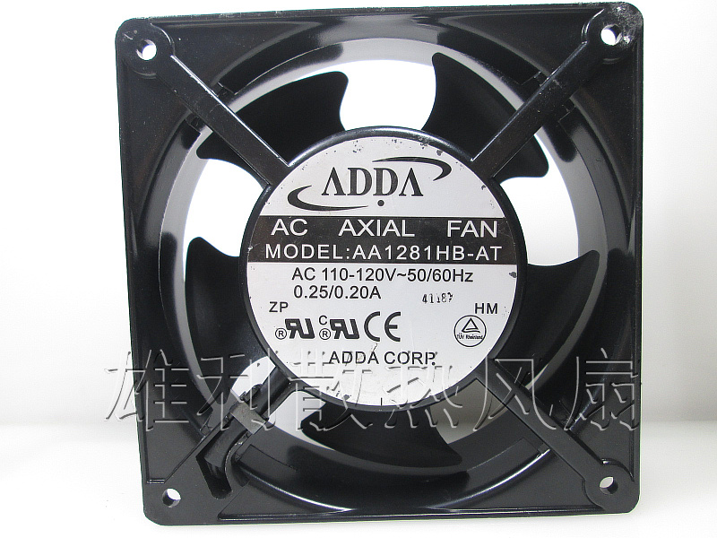Original ADDA AA1281HB-AT 120*120*38MM 110V 12CM dual ball bearing cooling fan