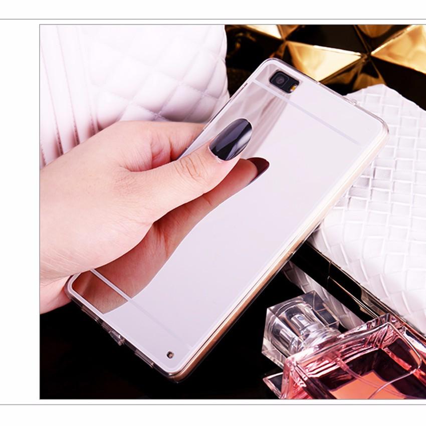 Hot! luksus lustro galwanizacja miękkie przezroczysty tpu case pokrywa dla huawei p8/p8 lite p9 p9 plus p9 lite g9 7