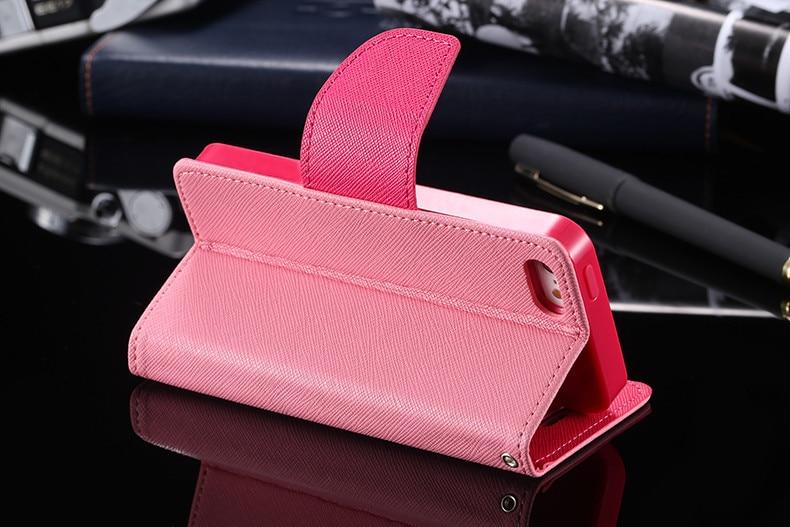Podwójny kolor klapki skóra telefon torba case dla iphone 6 7 6 s plus 5 5S se gniazda kart + stojak kabura pokrowiec case dla iphone 7 6 6 s 27