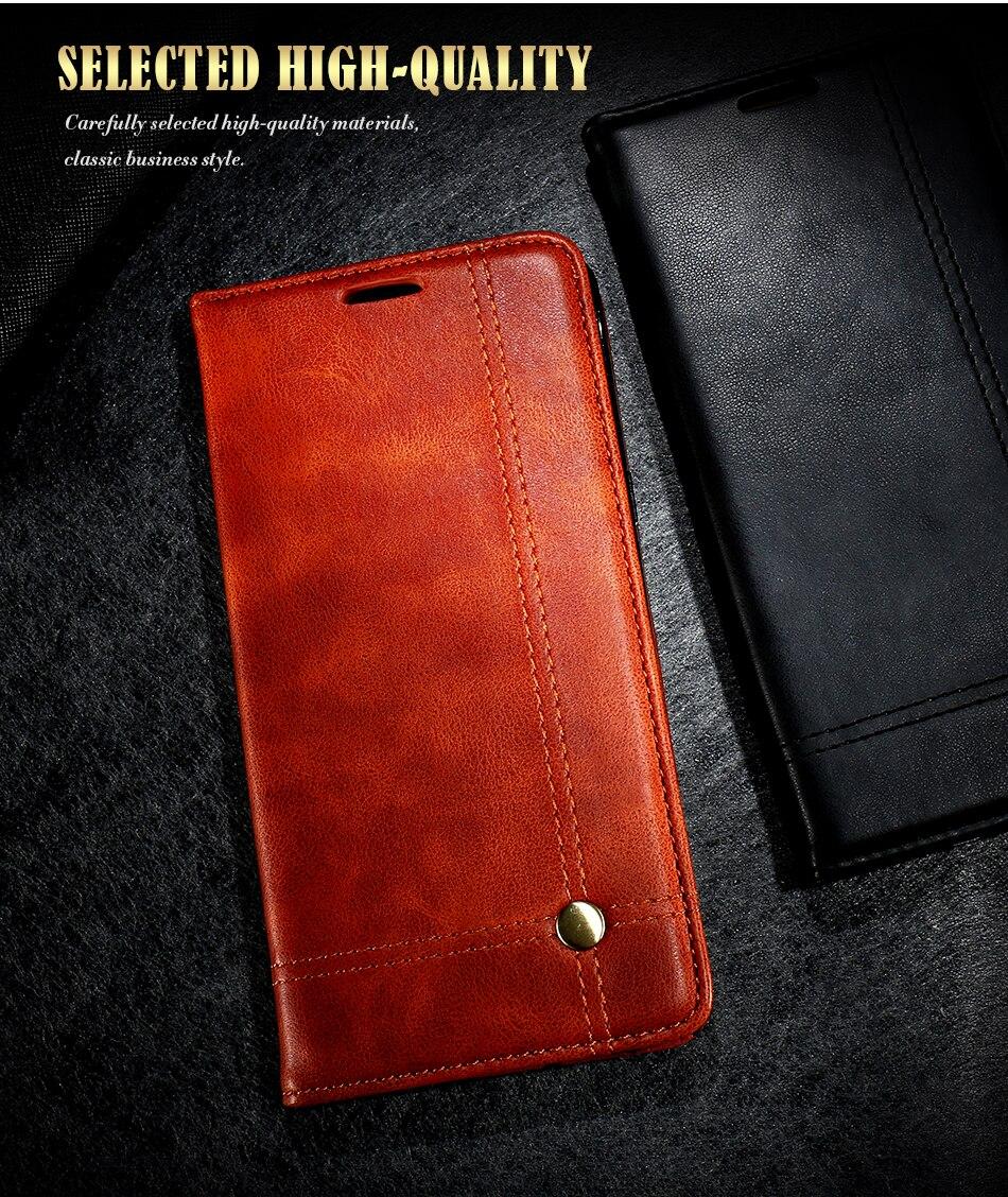 Deluxe floveme szlachetni mężczyźni skóra case dla iphone 6 plus 6s portfel pokrywa luksusowa brązowy odwróć kabura dla iphone 7 plus torby 2