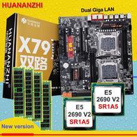 HUANANZHI Dual X79 M.2 Slot Motherboard mit CPU Intel Xeon E5 2690V 2 3,0 GHz RAM 64G(4*16G) alle Getestet Kaufen Computer auf Verkauf