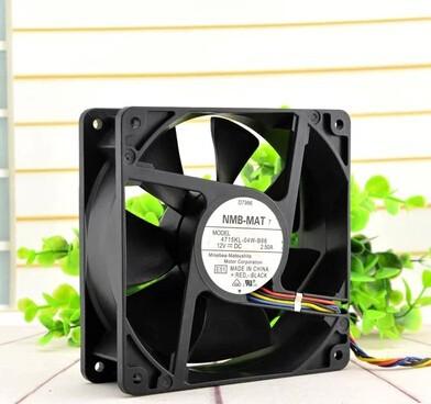 Wholesale: NMB 120*120*38 12V2.5A 4715KL-04W-B86 PE800 server 4 line double ball fan