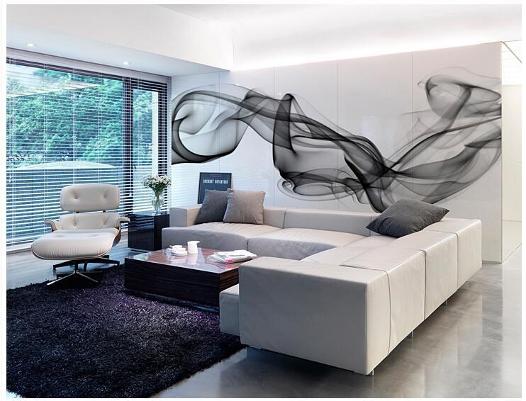 Niestandardowe 3D fototapety Dymu chmury streszczenie artystyczny fototapeta tapeta nowoczesna minimalistyczna sypialnia sofa TV obraz papier 12