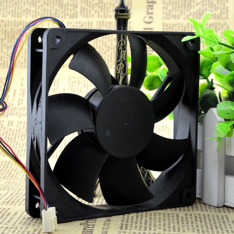 ADDA AD1212UB-A73GL 125 0.50A 12CM 4 wire Double ball bearing cooling fan