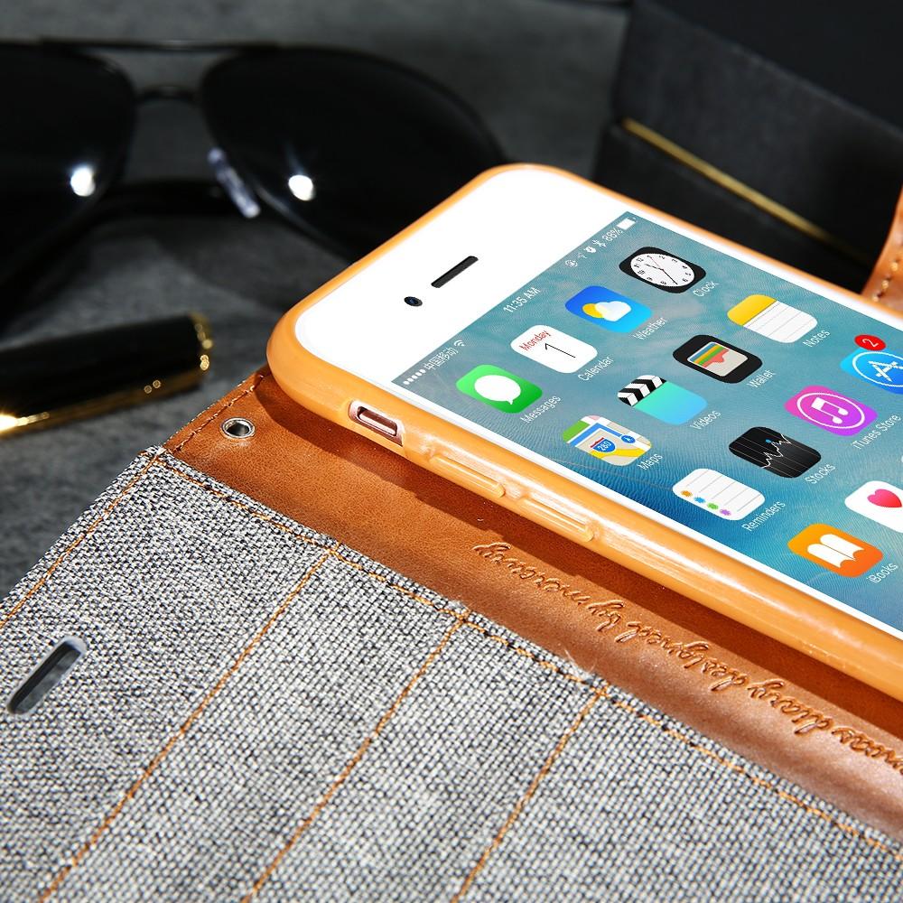 Kisscase stań portfel przerzuć przypadki dla iphone 6 6s 7 5 5S mody hit kolor slot kart skóra pokrywa dla iphone 7 6 s plus z logo 39