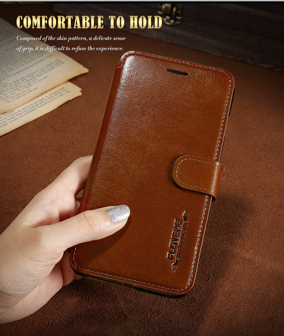Floveme vintage klapki skóra case dla iphone 7 6 6 s pokrywa z karty uchwyt luksusowe wallet case for iphone 7 7 plus 6 6 s plus capa 2