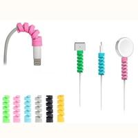 100 teile/los Silikon Spirale Kabel Protector USB Lade linie saver Für Handy kabel schutz Kabel Halter Kabel Veranstalter