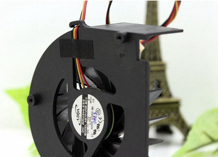 Wholesale: original AB7012HB-MC3 7CM 12V 0.30A ADDA dual ball turbo fan