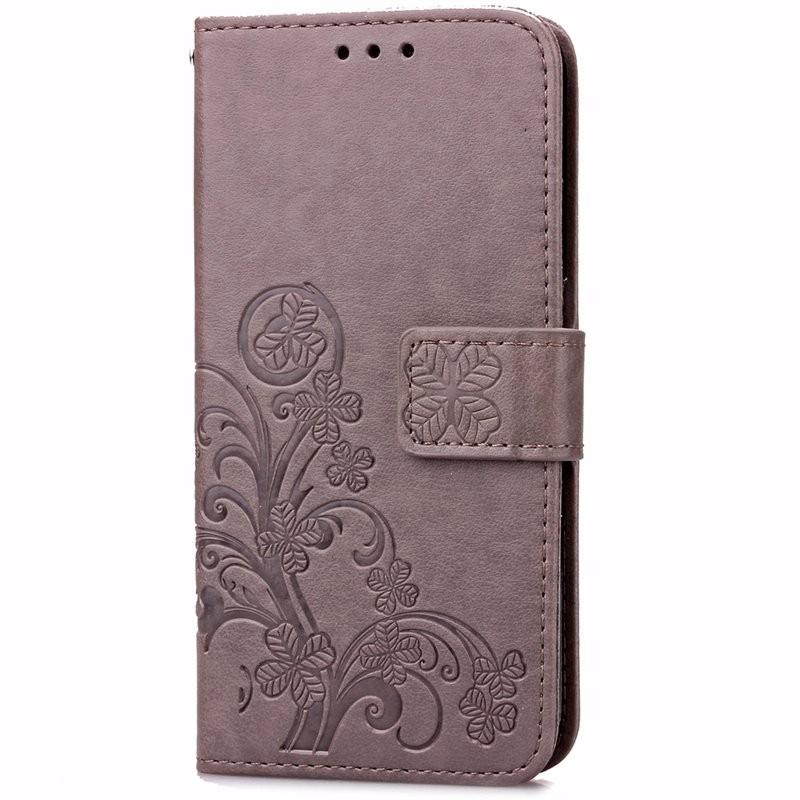 Cztery Liść Koniczyny Skrzynka dla Huawei P9 Okładka Huawei P9 Lite odwróć Wallet Case dla Huawei Hoesjes P9 Plus Telefon Coque PU skóra 2