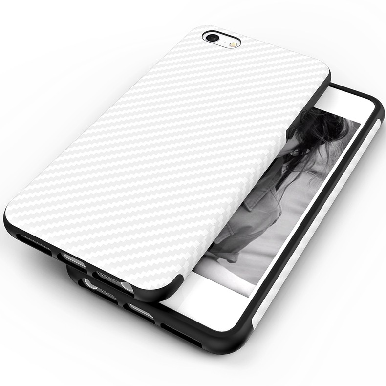Najnowszy środowiska carbon fiber case dla iphone 6 6s plus miękkie antypoślizgowa anti-puk pokrywy dla iphone 7/plus skóra skóra torba 10