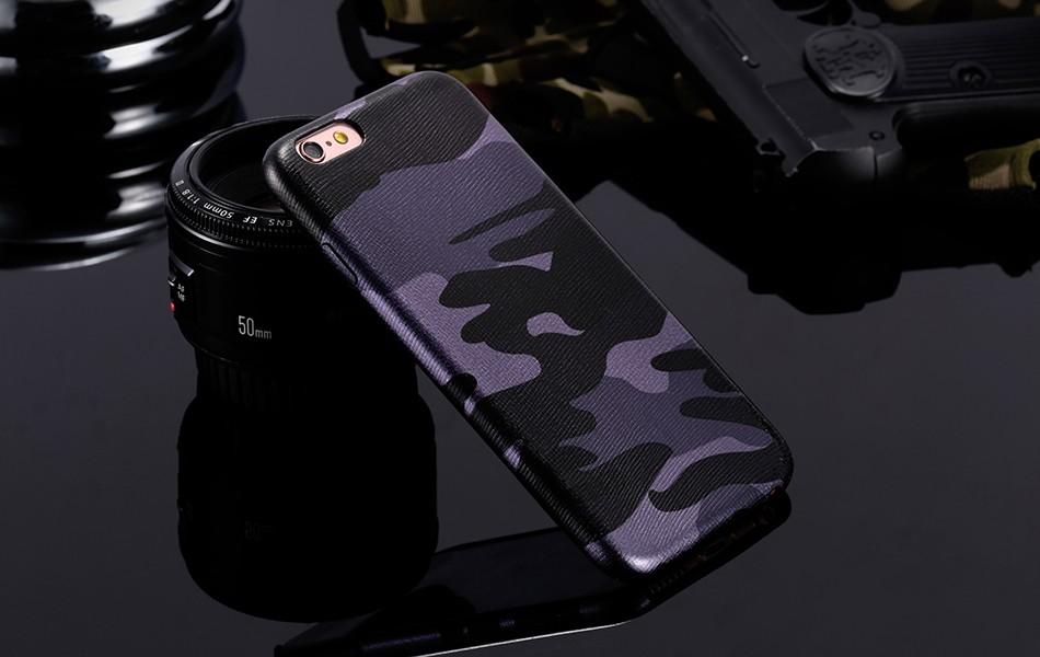 Dla iphone 7 5 5s se case wojskowy kamuflaż mężczyzn skórzane torby telefon sprawach dla iphone 7 7 plus pokrywa dla iphone 6 6s plus 5 5S se 12