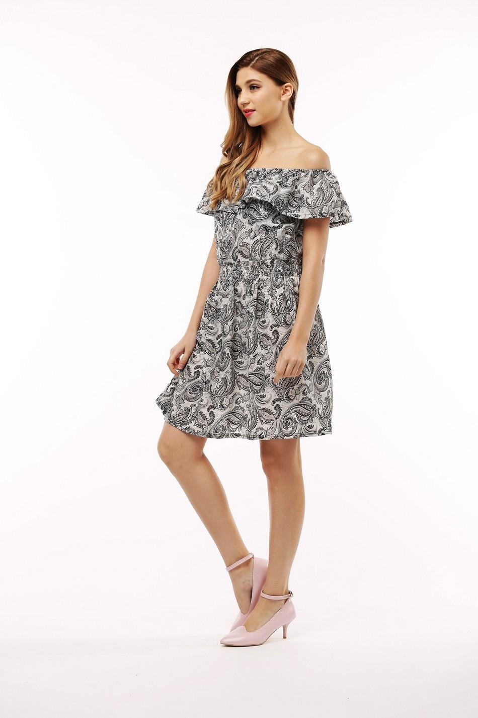 2017 fashion nowa wiosna lato plus size odzież kobiet floral print wzór sukienki na co dzień vestidos wc0472 15