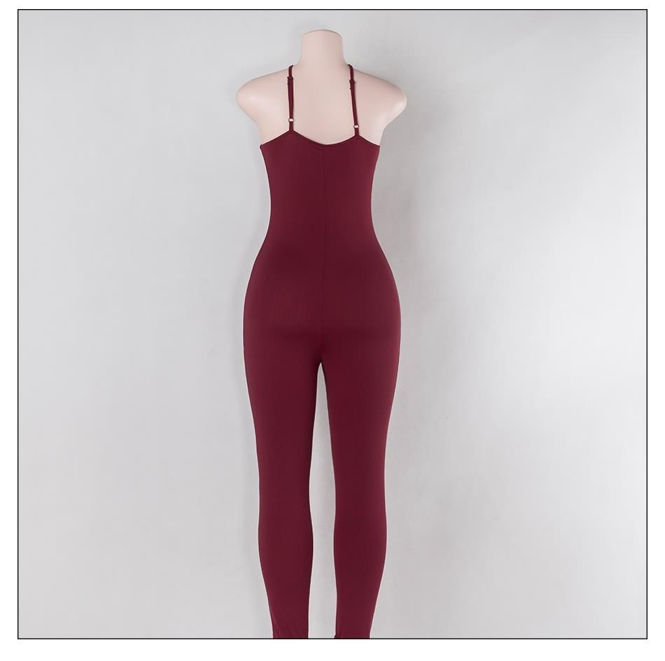 Sedrinuo 2017 lato new arrival regularne casual mody szyi sexy pajacyki kobiet kombinezon kombinezon dla kobiet 6 kolory 7160 20