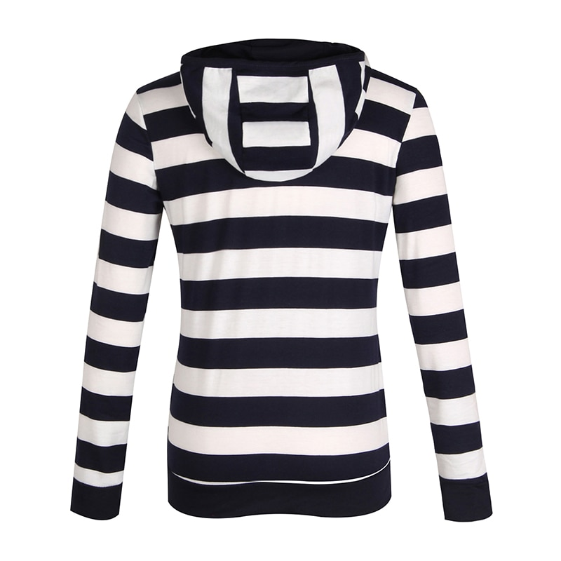 Moda damska Stripes Casual Zipper Bluzy Z Kapturem Kieszeni Kobiety Bluza Plus Rozmiar S-5XL LJ7847R 11