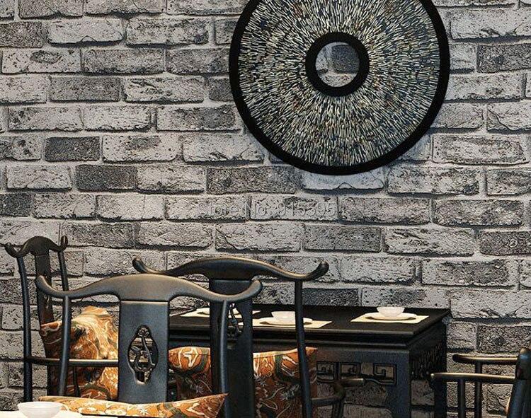 Nowoczesne vintage cegły kamienia pokoju tapety mural 3d winylu wodoodporna tłoczone tapety rolka papel de parede home decor 10 m 23