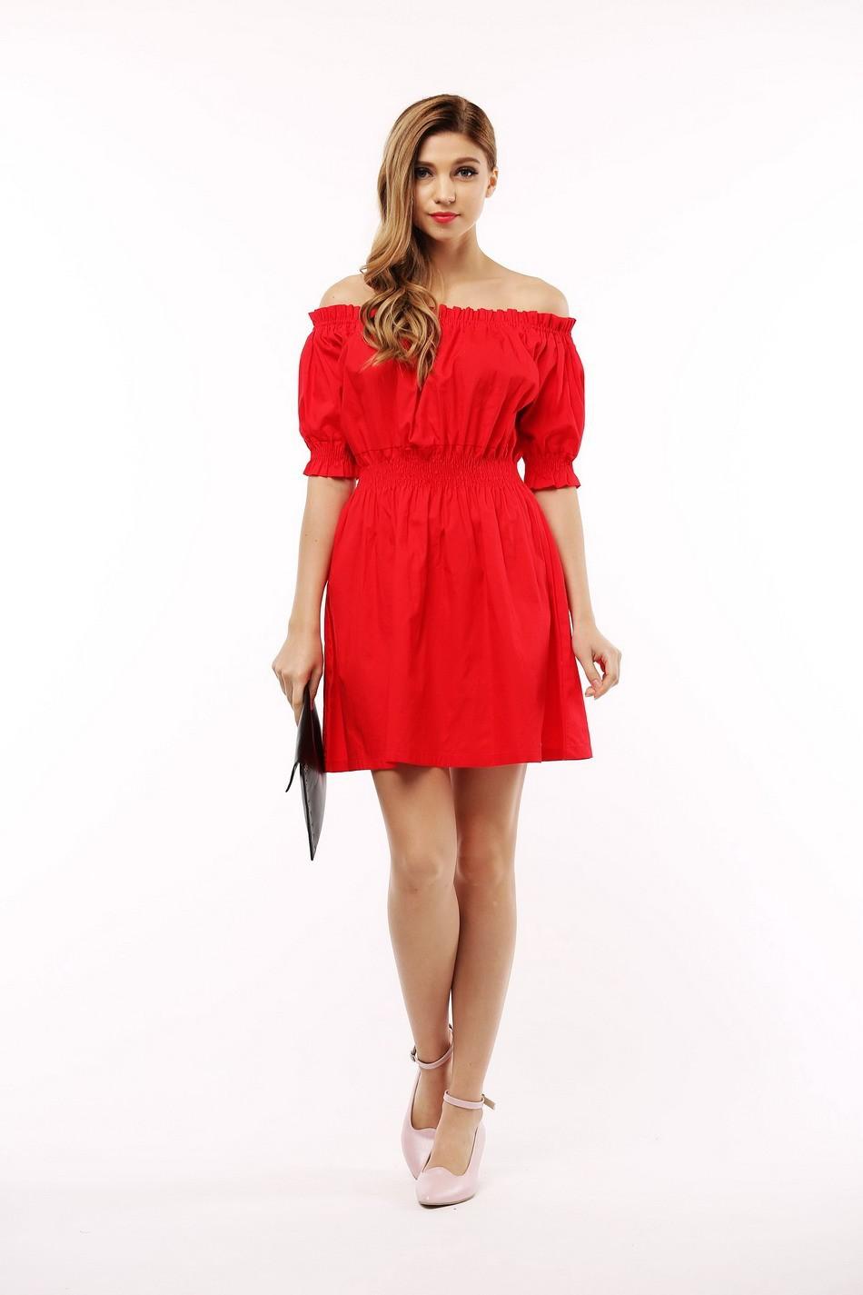 100% bawełna nowy 2017 jesień lato kobiety dress krótki rękaw casual sukienki plus size vestidos wc0380 6