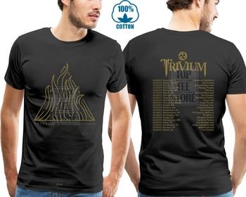 831caaa6 Heavy Metal Band Men's T Shirt Trivium Tour 2017 Tshirt Black—AEon