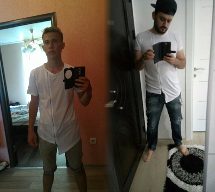 2016 Nowych mężczyzna Pokaz Mody Stylowe Długi T shirt Asymetryczne z boku Na Zamek Błyskawiczny Duży Dekolt Z Krótkim Rękawem T-shirt Męskie Hip Hop Tee 5