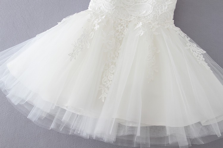 Ivory Tulle Lace Flower Girl Dress 9