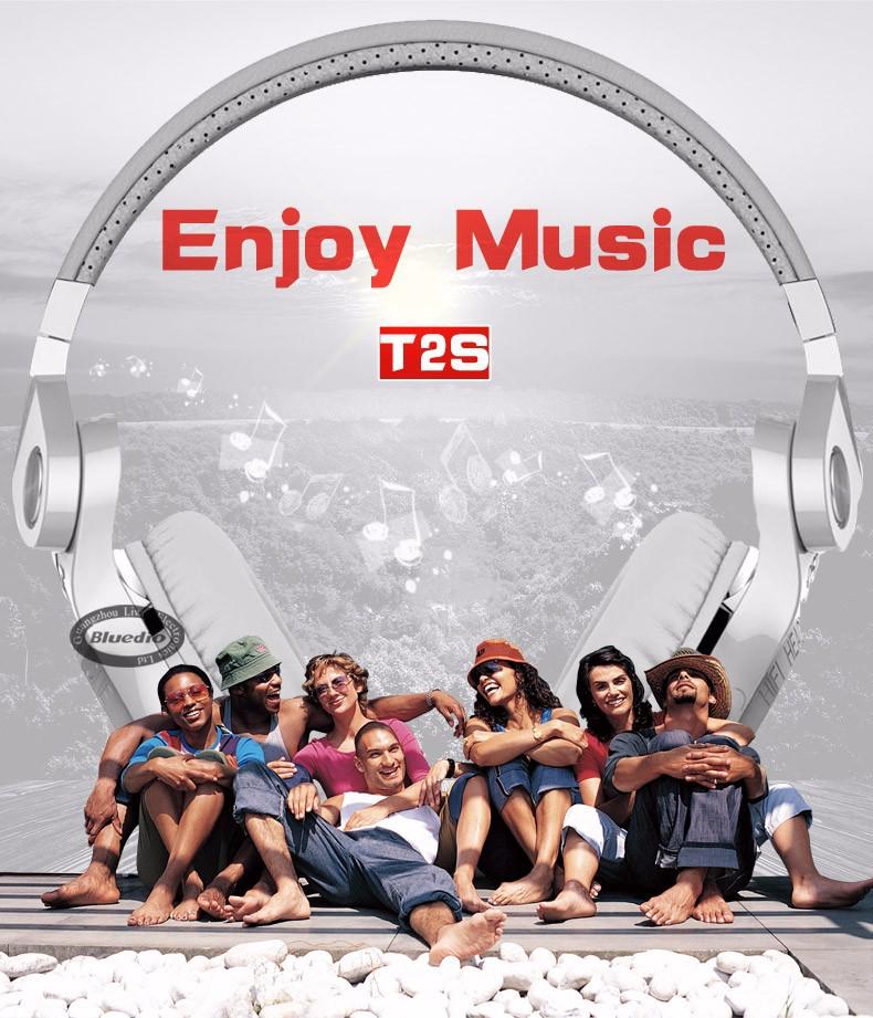 Bluedio t2s (brake fotografowania) słuchawki stereofoniczne słuchawki bezprzewodowe bluetooth 4.1 zestaw słuchawkowy bluetooth nad słuchawek dousznych 2