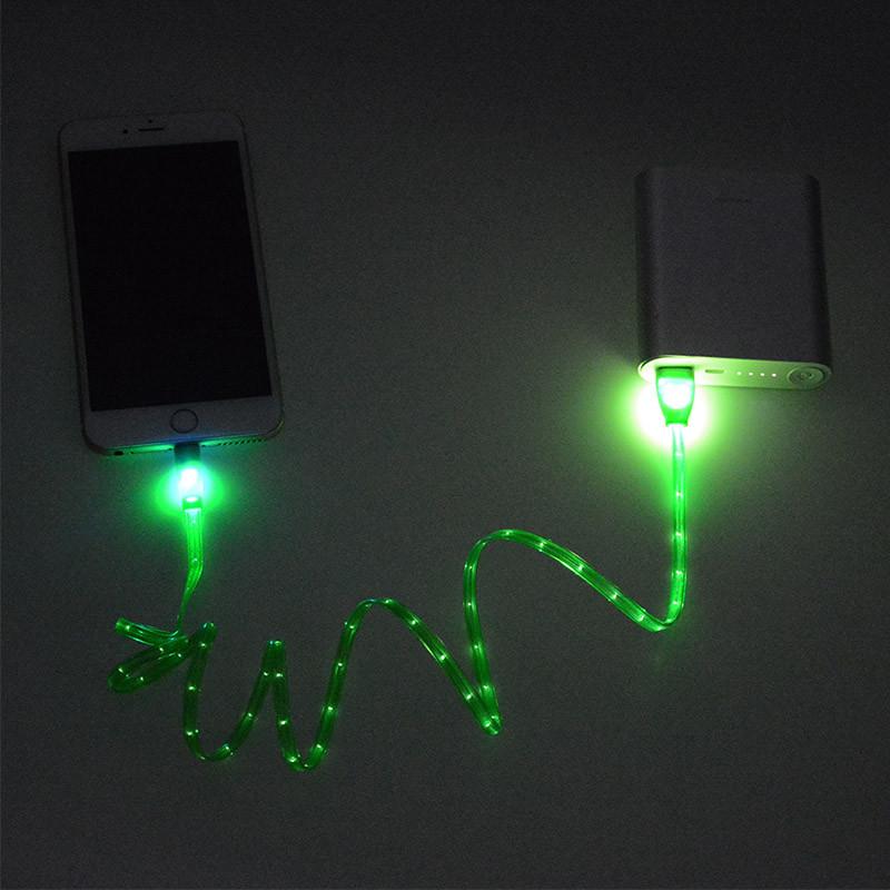 1 m noc światła led uniwersalny dla błyskawicy micro usb cable ładowarka złącze usb do ładowania danych sync dla iphone 7 ipad android 8
