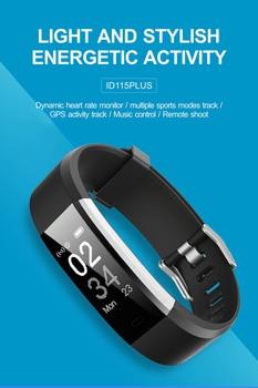 ID115 plus Smart Band Fitness bracelet Tracker Step Counter Heart