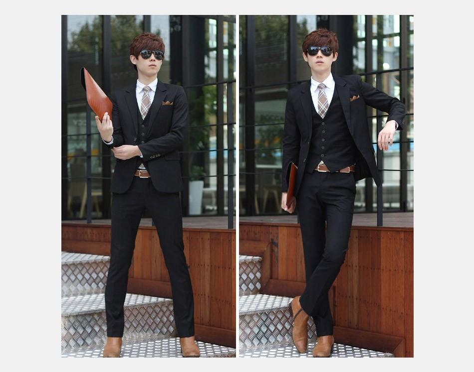 (Kurtka + Spodnie + Tie) luksusowe Mężczyzn Garnitur Mężczyzna Blazers Slim Fit Garnitury Ślubne Dla Mężczyzn Kostium Biznes Formalne Party Niebieski Klasycznej Czerni 18