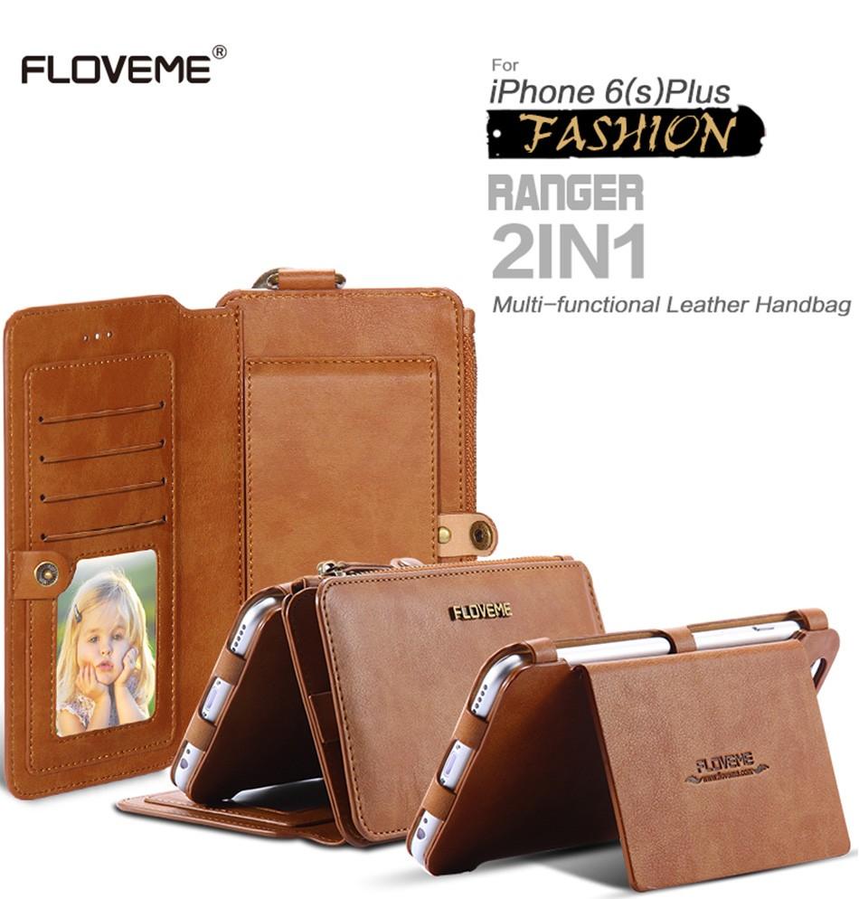 Floveme oryginalny retro skóra telefon case for iphone 6s 6 4.7 dla iphone6s iphone 6s przypadki metalowy pierścień coque pokrowce na iphone 7 1