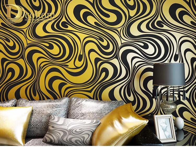 Wysokiej jakości 0.7 m * 8.4 m nowoczesny luksus 3d tapety rolki mural papel de parede uciekają na paski ściany papier 5 kolor r136 33