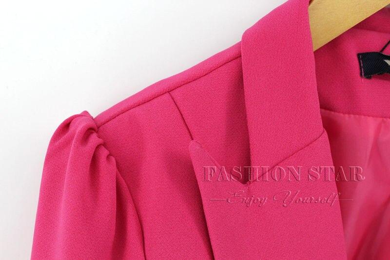RealShe 2016 Kobiet Kurtki Długi Rękaw Garnitur Marynarka damska Marynarka Casual Mujer Feminina Plus Size Blazer Feminino Kurtki 40