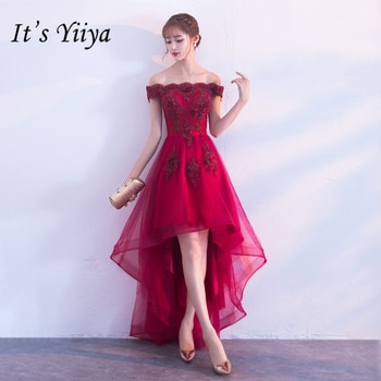 13071530d2 C'est YiiYa nouveau vin rouge bateau cou robe de Cocktail | H063 ...
