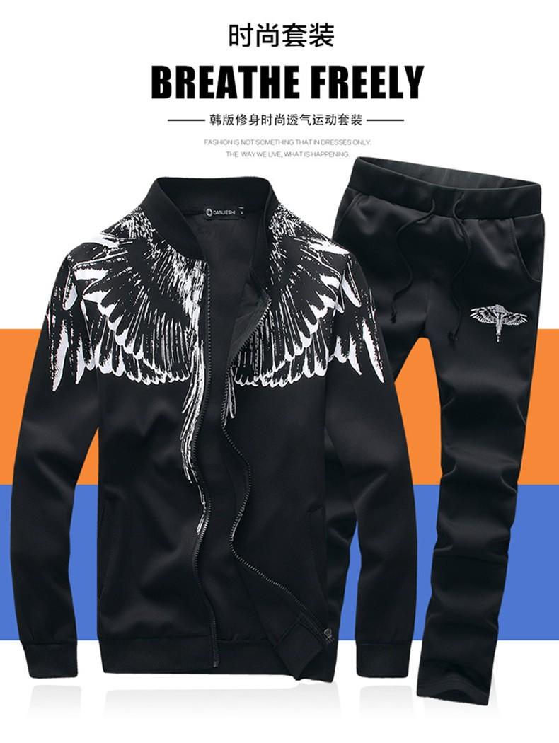 Marka-Odzież Dres Dorywczo SportSuit Męskie Odzieży Męskiej Mody Wiosna/Jesień Bluzy/Bluzy Żakiet + Spodnie Dres Polo 2016 9
