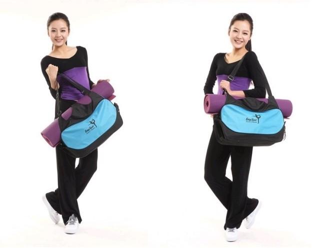 Mata yoga bag wodoodporny plecak na ramię messenger torba sportowa dla kobiet fitness ubrania siłownia duffel torba (nie yoga mat) 8