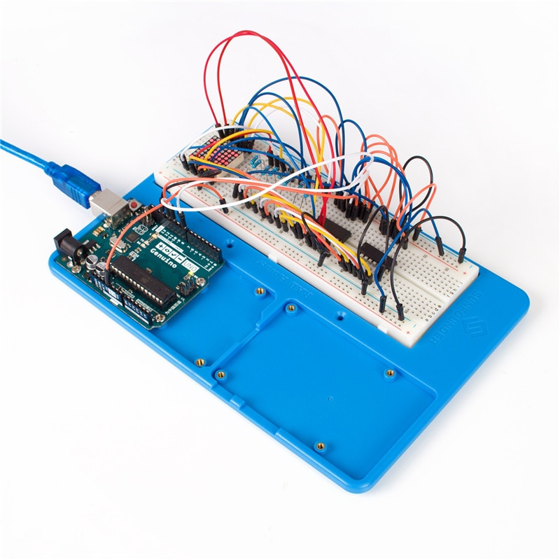 Sunfounder rab in breadboard holder base plate circuit