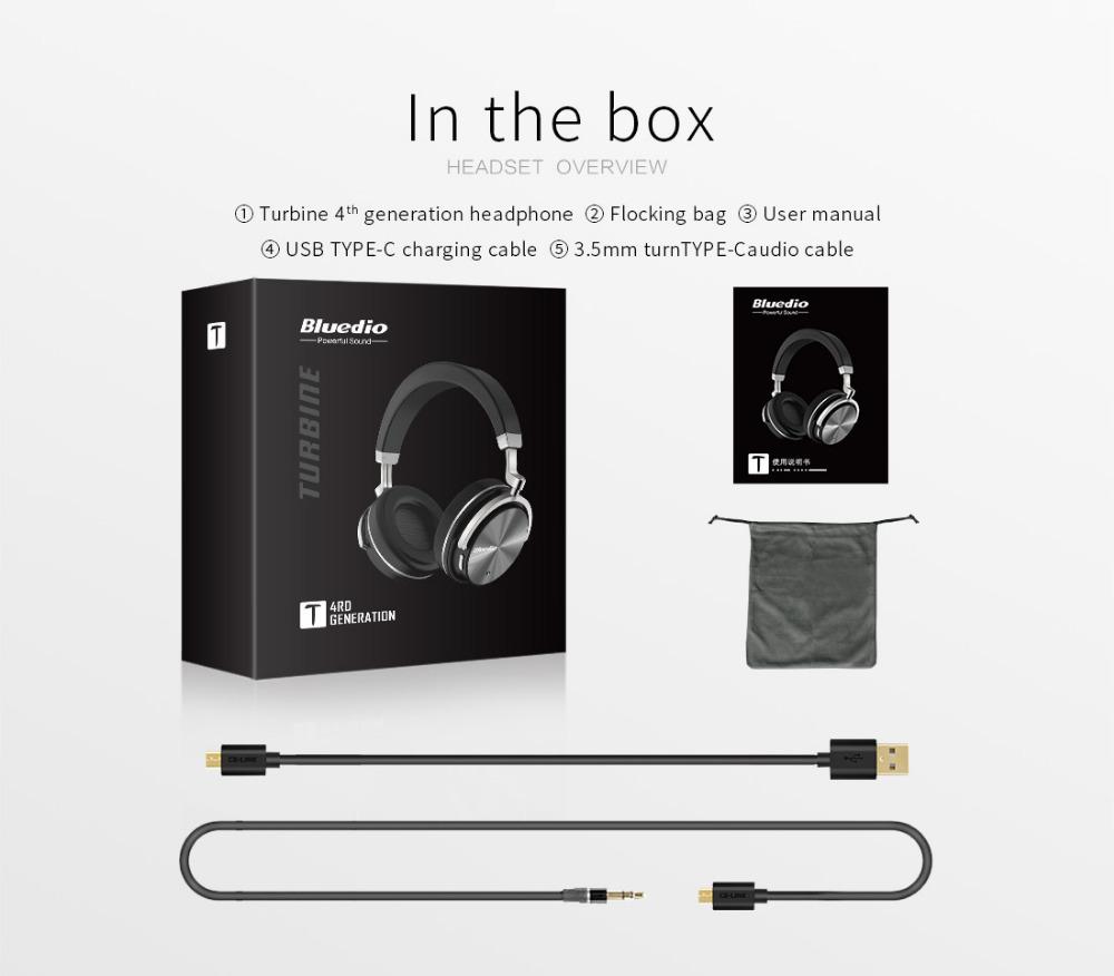 T4 bluedio aktywny hałasu anulowanie słuchawki bezprzewodowe bluetooth bezprzewodowy zestaw słuchawkowy z mikrofonem 16