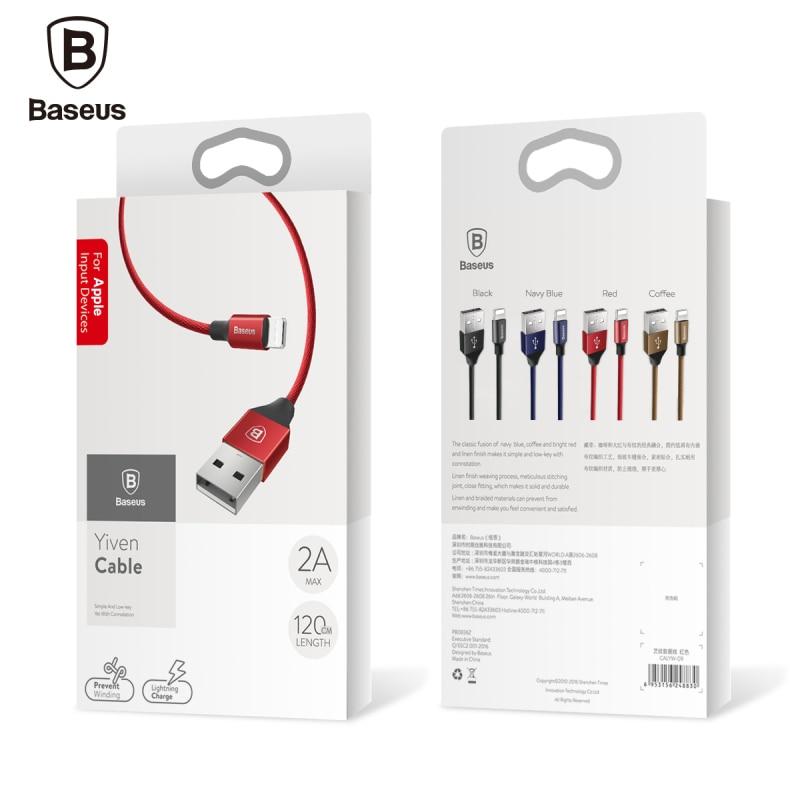 Baseus 2.0a szybkiego ładowania synchronizacji danych błyskawica dla iphone kabel usb kabel dla iphone 7 6 6 s plus 5 5S se ipad air mini ładowarka 15