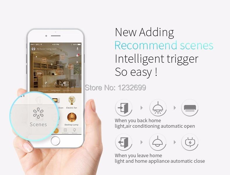 Oryginalny Mini3 Uniwersalny Inteligentny WiFi Broadlink RM/IR/4G Bezprzewodowego Pilota zdalnego sterowania Poprzez IOS Android Inteligentnego Domu automatyki 8