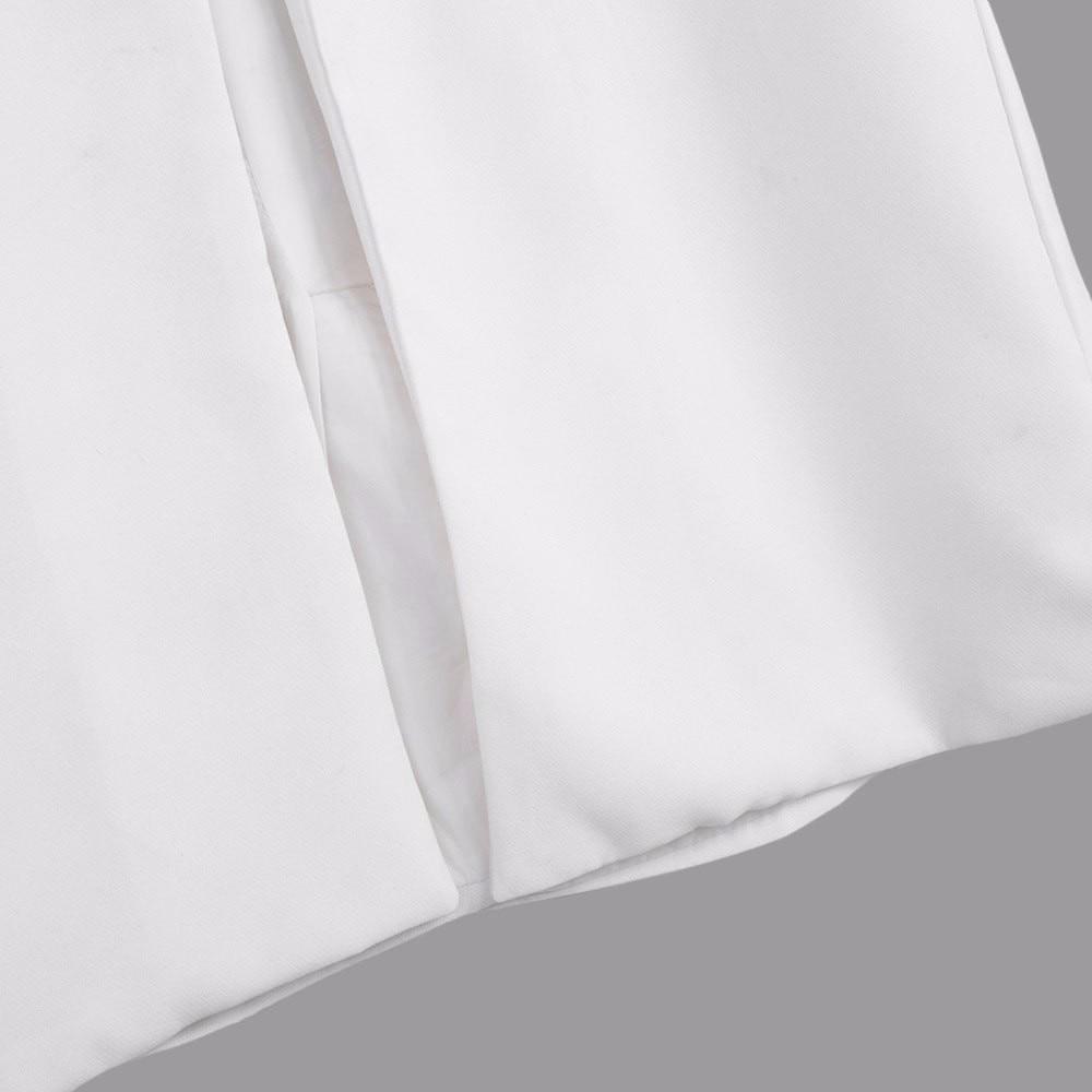 AZULINA 2016 Kobiet Jesień Marynarka Kobiet Białe Czarne Kobiety Garnitur Długi Sweter Marynarka Kamizelka Bez Rękawów Kurtka Płaszcz 14