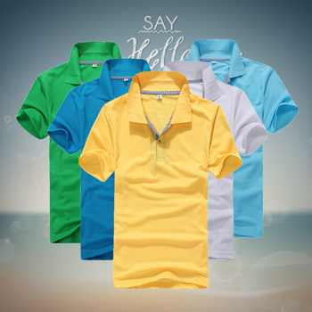 2019 summer style polo men, men's short sleeve polo shirts Slim