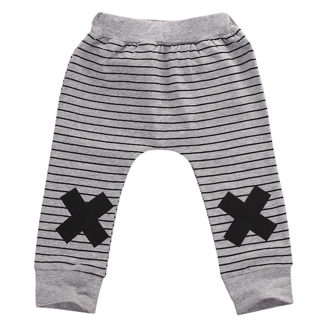 0-2Y Boys Baby Dziewczyny Cute Paski Potwór Dolne Spodnie Legginsy Spodnie Harem Dzieci Spodni 8