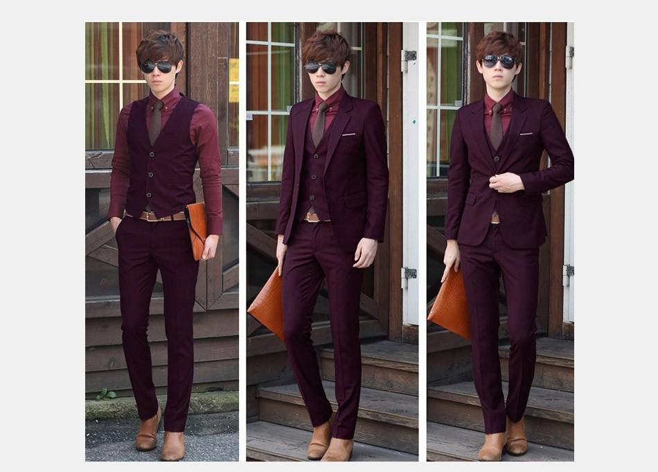 (Kurtka + Spodnie + Tie) luksusowe Mężczyzn Garnitur Mężczyzna Blazers Slim Fit Garnitury Ślubne Dla Mężczyzn Kostium Biznes Formalne Party Niebieski Klasycznej Czerni 12